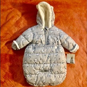London Fog Baby Puffer Carbag Pram Bag Snowsuit